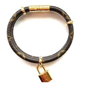 Louis Vuitton monogram canvas bracelet